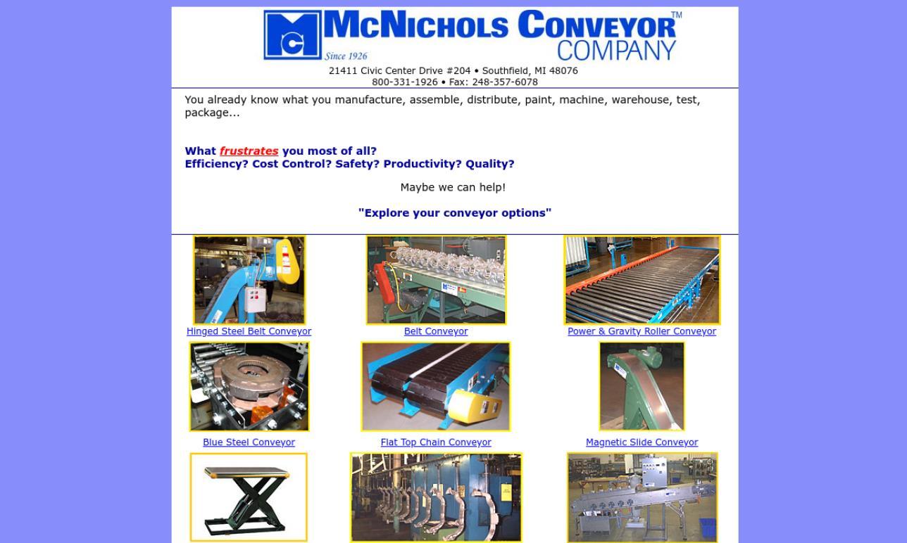 McNichols Conveyor™ Company
